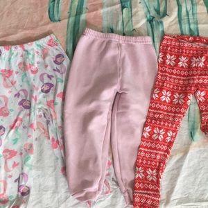 Girls sweatpants and pajama bottom bundle 3T